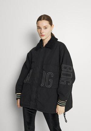CHAIN STITCH JACKET - Krátký kabát - black