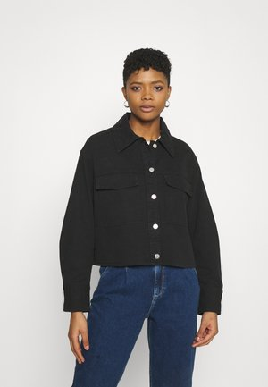 LINETTE - Denim jacket - black