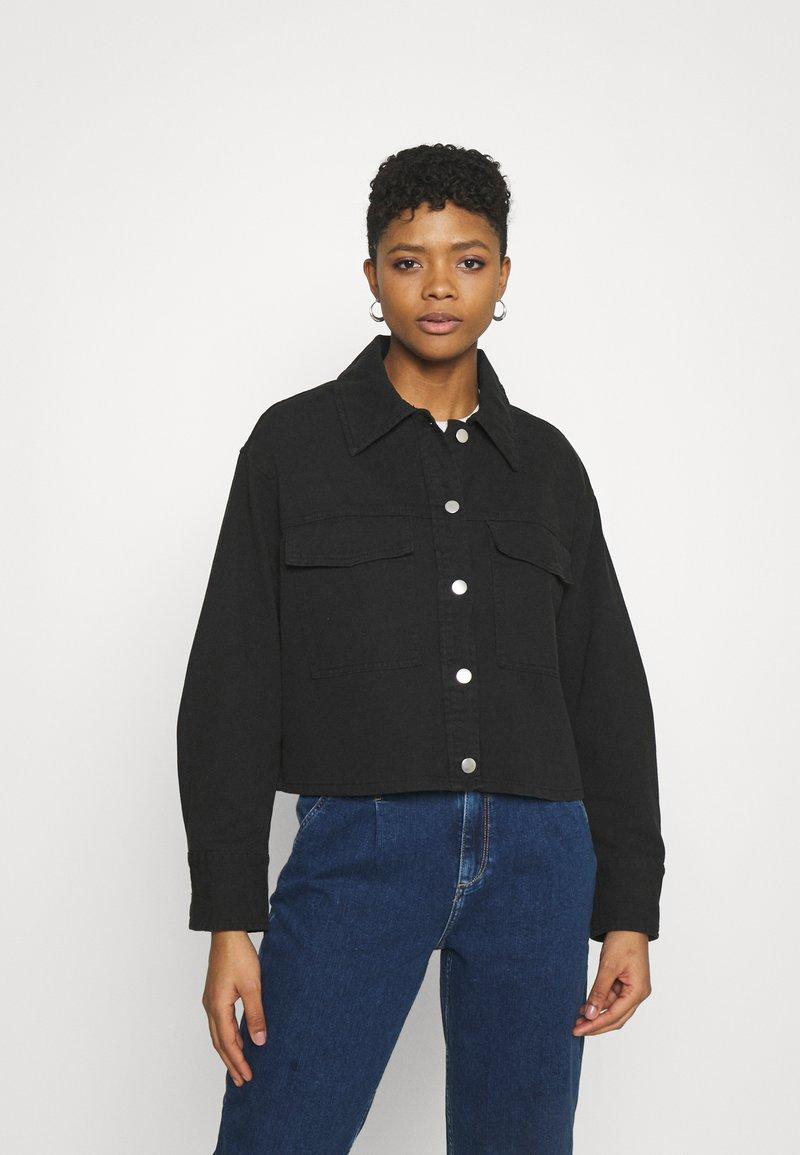 Monki - Denim jacket - black