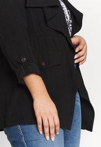 Dorothy Perkins Curve - SHORT WATERALL JACKET - Summer jacket - black - 5