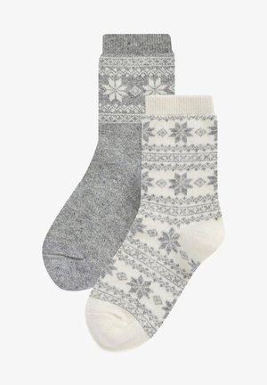 CASHMERE TOUCH TWO PACK - Socks - grey