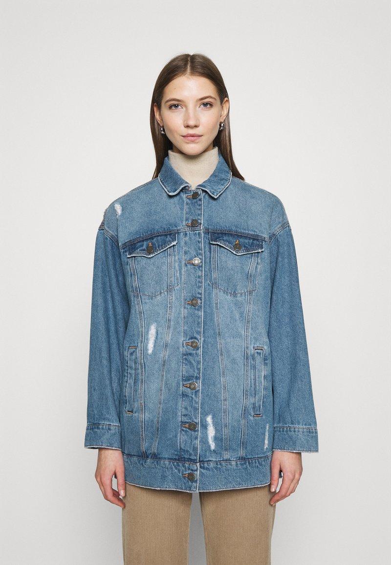 Noisy May - NMFIONA DEST JACKET  - Denim jacket - light blue denim
