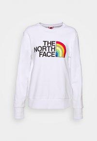 RAINBOW CROPPED CREW - Sweatshirt - white