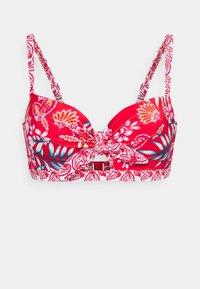 Pour Moi - HORIZON PADDED UNDERWIRED TIE - Bikinitop - red/white - 0
