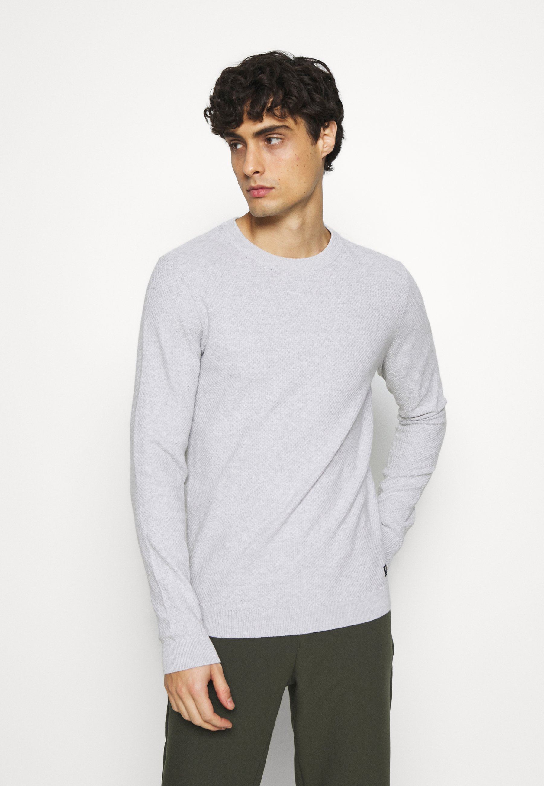 Homme BRICK WALL STRUCTURE CREWNECK - Pullover - light stone grey