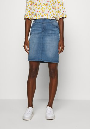 SKIRT - Denim skirt - light stone wash denim