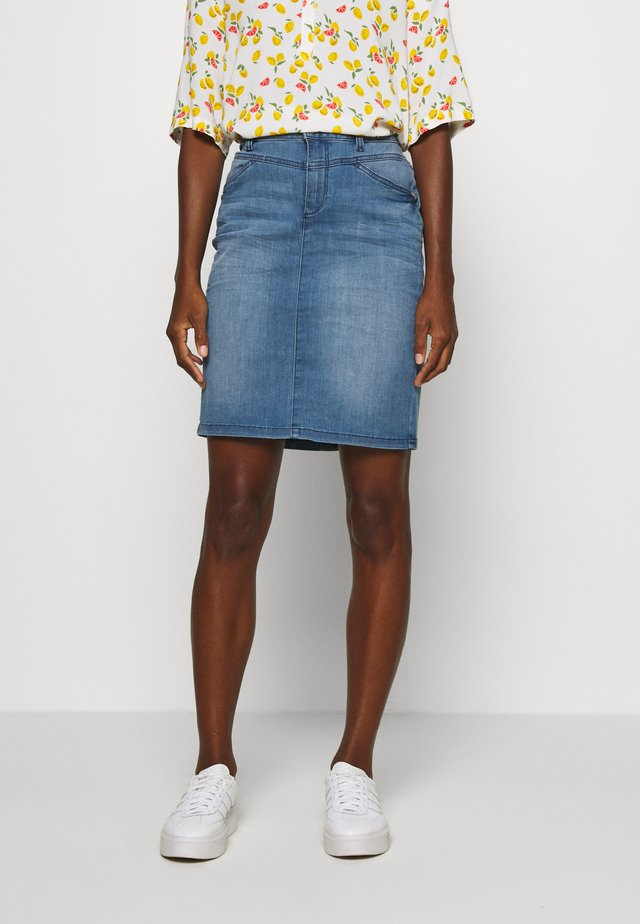 SKIRT - Farkkuhame - light stone wash denim