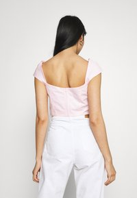 Missguided - RUCHED BUST CORSET TOP - Blouse - pink - 2