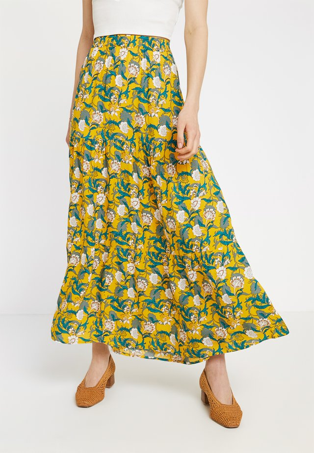 KABELLA SKIRT - Maxi skirt - old gold