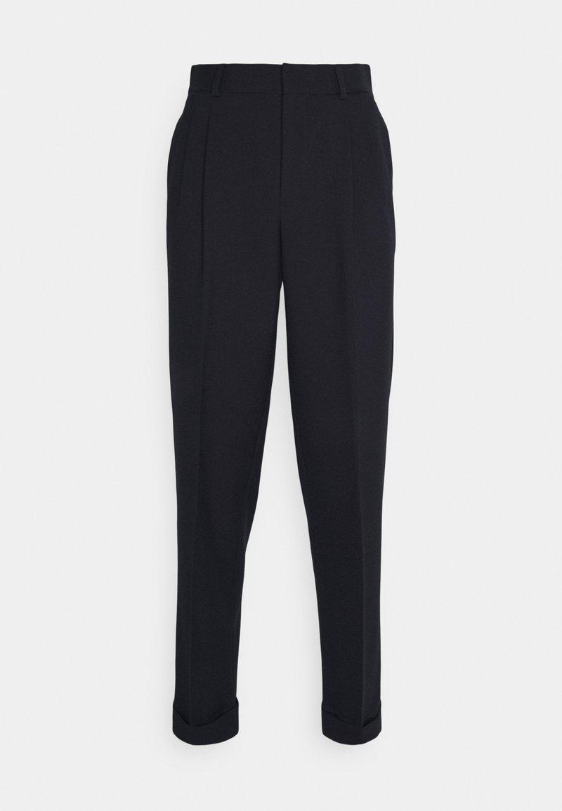 sandro - CROISE NAVY - Oblekové kalhoty - marine