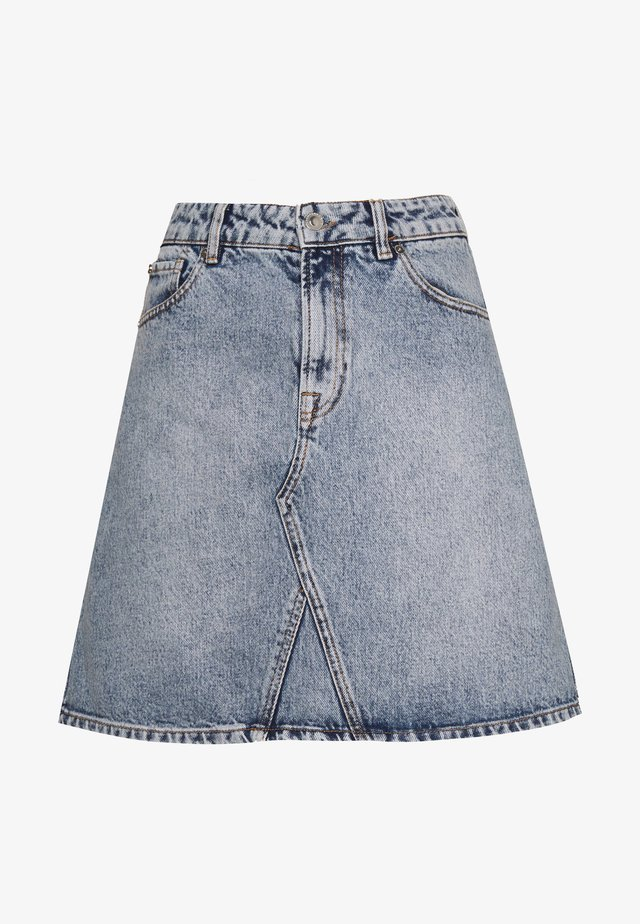 ANGIE SKIRT WASH HAAG - Falda vaquera - denim blue