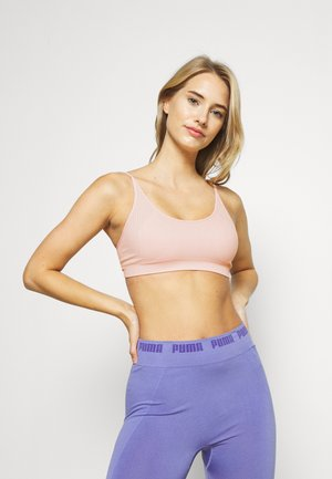 LOW IMPACT STRAPPY SEAMLESS BRA - Light support sports bra - lotus/high rise