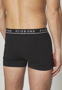 Pier One - 5 PACK - Boxerky - black/bordeaux - 4