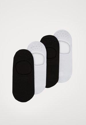 INVISIBLE SNEAKER 4 PACK - Füßlinge - black/white