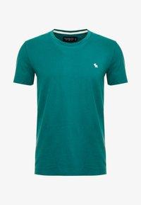 Abercrombie & Fitch - POP ICON CREW FRINGE - Camiseta básica - green - 4