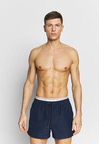 Calvin Klein Swimwear - DOUBLE - Swimming shorts - blue - 0
