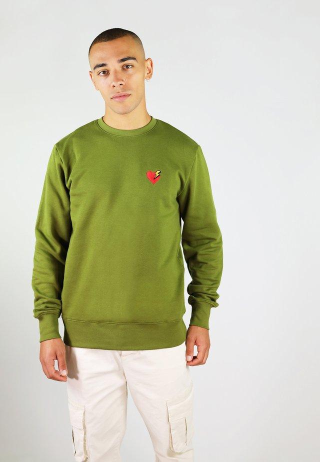 HEART - Sweater - green