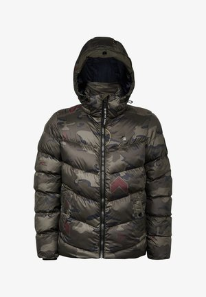 WHISTLER HOODED PUFFER - Winter jacket - forest night circle camo