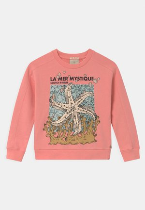 CREW NECK RELAXED FIT WITH ARTWORK - Sweater - sorbet