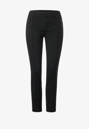 MIT GALON - Trousers - schwarz
