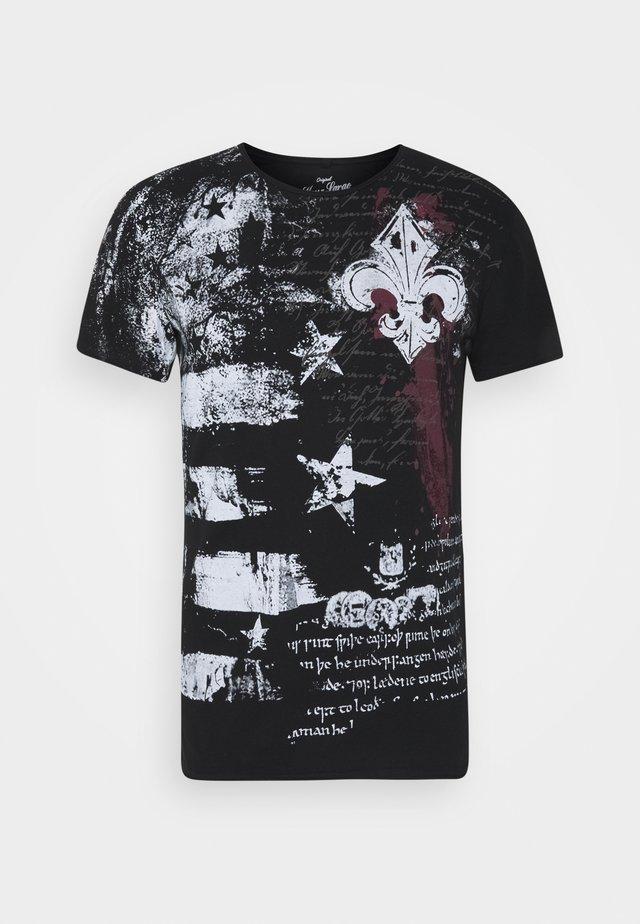 INDICATE ROUND - T-shirt imprimé - black