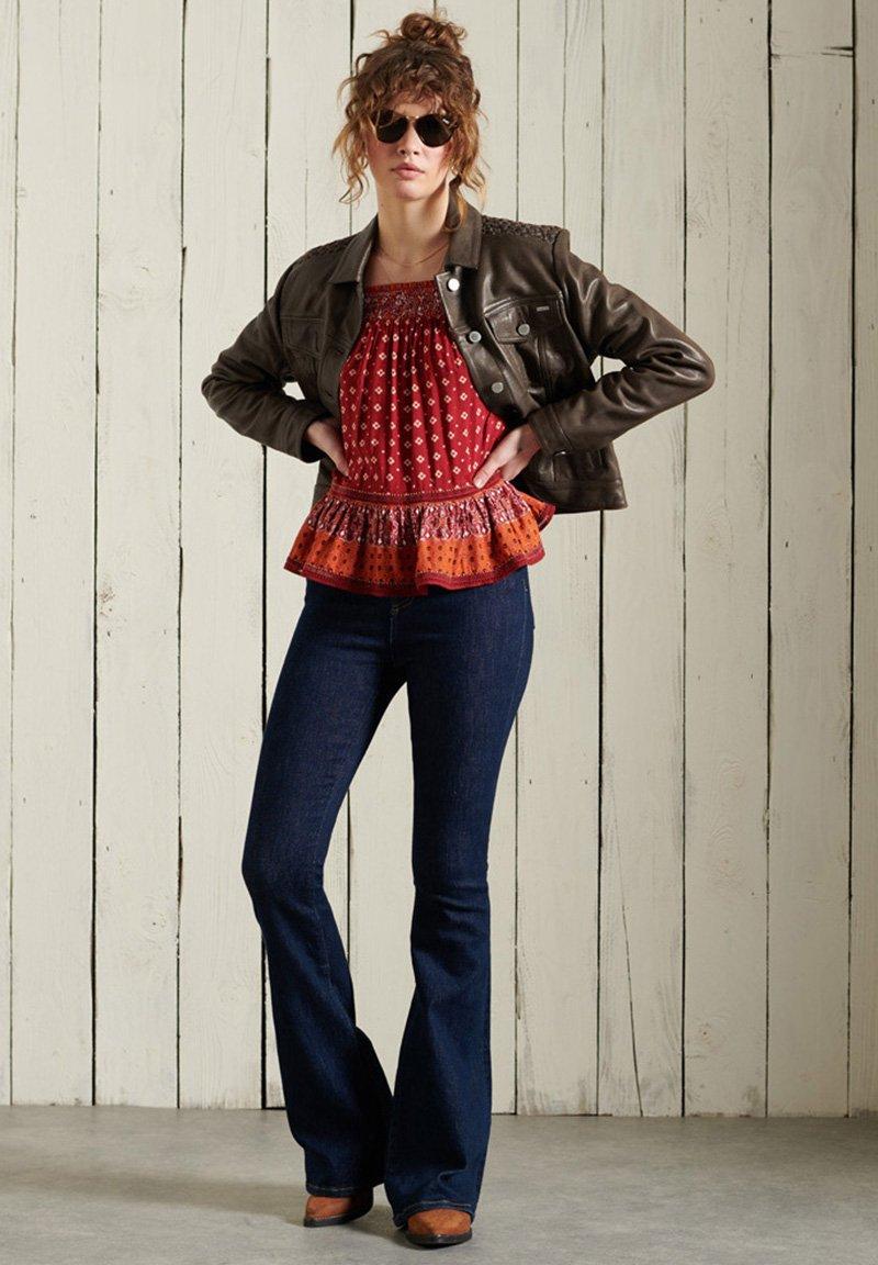 Femme STATESIDE TRUCKER - Veste en cuir