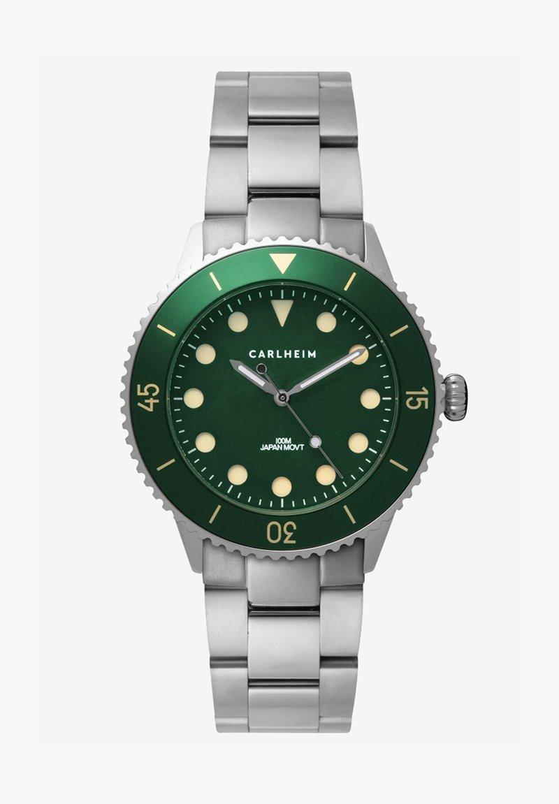 Carlheim - DIVER 40MM LINK - Montre - silver-green