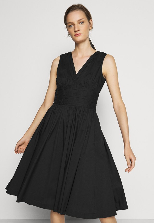 POPLIN MIDI DRESS - Day dress - black
