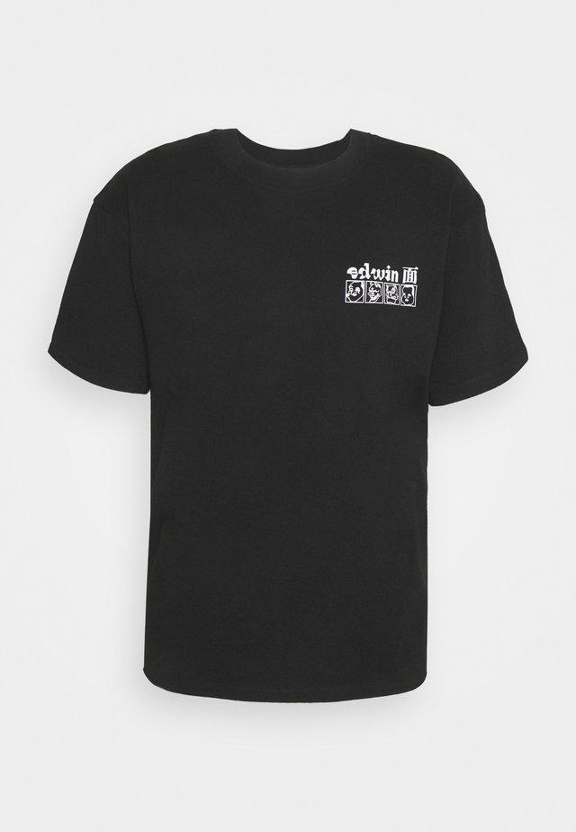 HOKUSAI NOH MASKS UNISEX - T-shirts med print - black