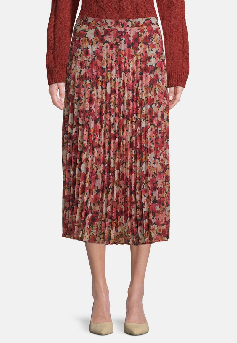 Betty & Co - Pleated skirt - red/rosè