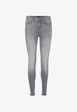 SKINNY FIT JEANS VMHANNA - Slim fit jeans - light grey denim