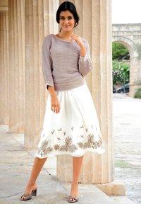 Alba Moda - A-line skirt - weiß haselnuss - 2
