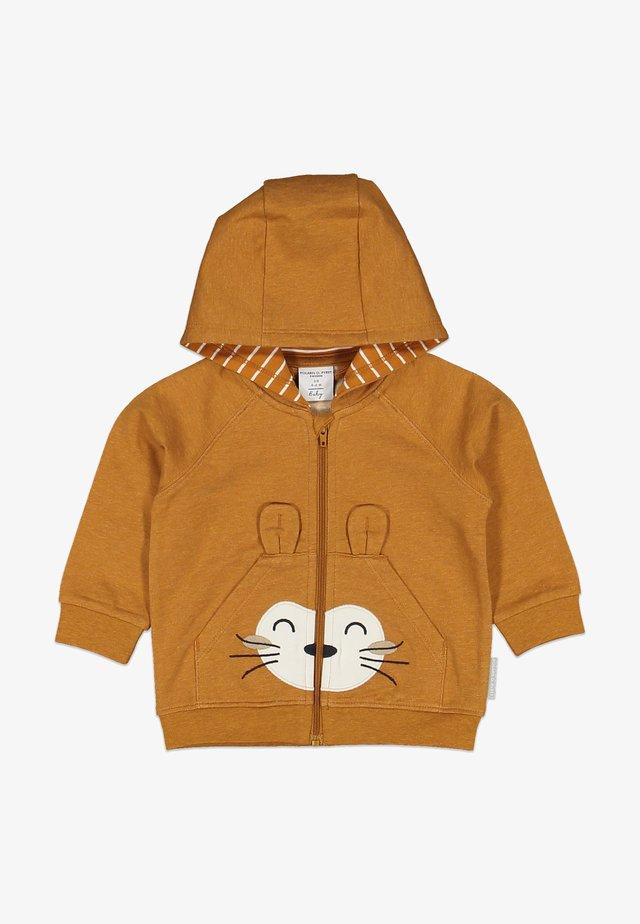Zip-up hoodie - pumpkin spice