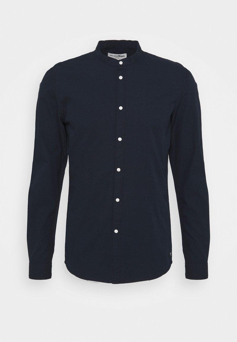 TOM TAILOR DENIM - MINI STRUCTURE - Overhemd - navy small dobby
