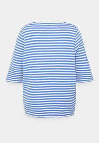 MY TRUE ME TOM TAILOR - OTTOMAN STRIPED - Long sleeved top - marina/white