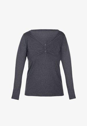 Pyjama top - melange graphite