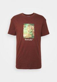 JORART CREW NECK - T-Shirt print - deep mahogany