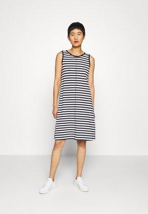 DRESS SLEEVELESS MID LENG - Jersey dress - navy