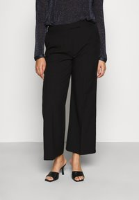 CAPSULE by Simply Be - ESSENTIAL WIDE LEG TROUSER - Kalhoty - black - 0