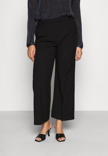 ESSENTIAL WIDE LEG TROUSER - Trousers - black
