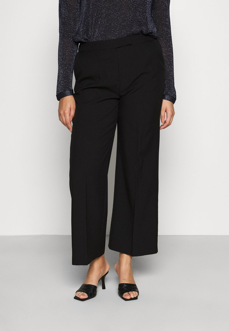 CAPSULE by Simply Be - ESSENTIAL WIDE LEG TROUSER - Kalhoty - black