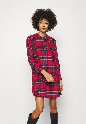 DRESS PLAID - Shirt dress - red