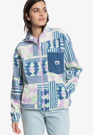 Fleece jacket - orchid collage
