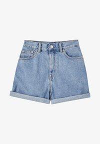 PULL&BEAR - Jeans Shorts - mottled dark blue - 6