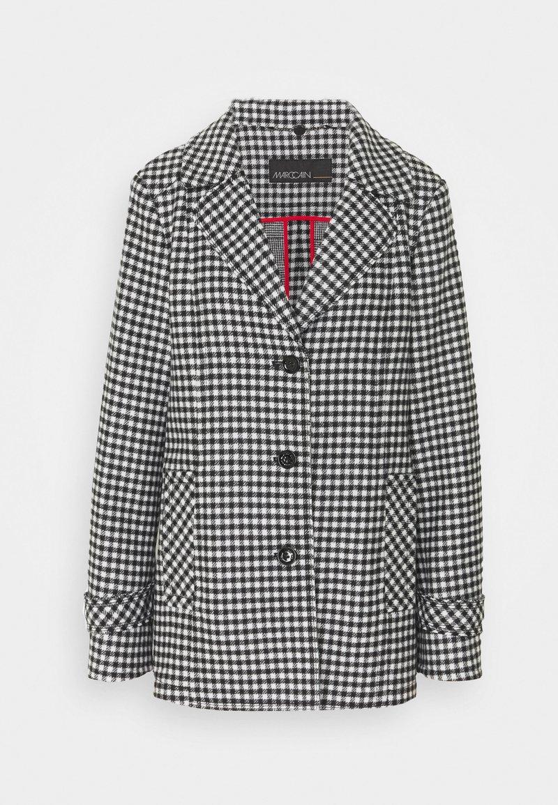 Marc Cain - Classic coat - black/white