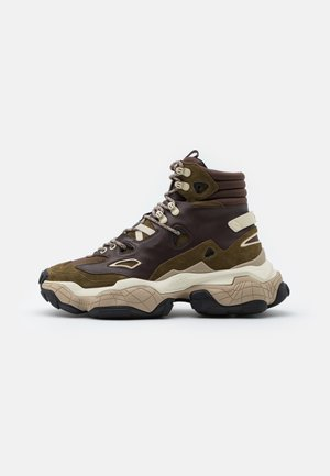 ATOMIC - High-top trainers - open brown