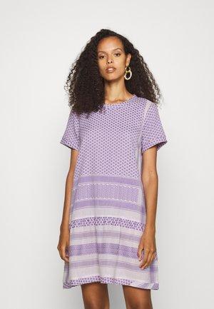 DRESS - Day dress - lavender fog/lavender silk
