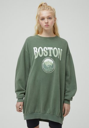 Sweatshirt - mottled dark green