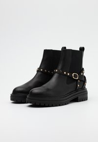 Shoe The Bear - FRANKA CAGE - Cowboy/biker ankle boot - black - 2