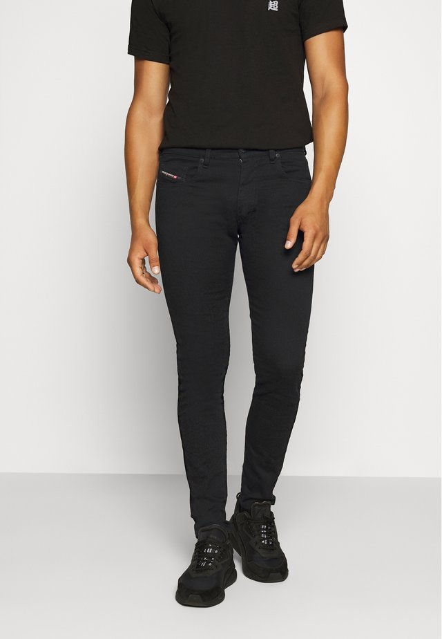 D-STRUKT - Džíny Slim Fit - black denim